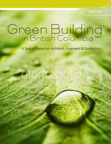 in British Columbia - BC's Green Economy