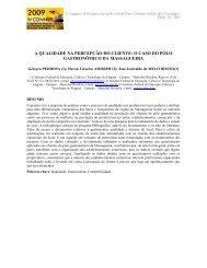 a qualidade na percepção do cliente - Connepi2009.ifpa.edu.br