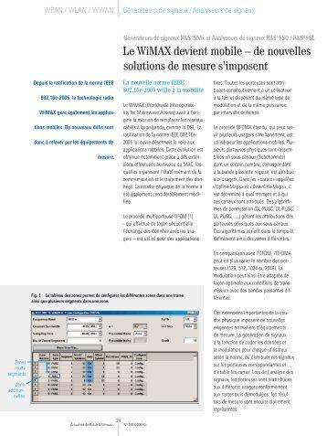 Le WiMAX devient mobile – de nouvelles ... - Rohde & Schwarz