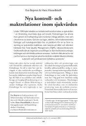 Nya kontroll- och maktrelationer inom sjukvården - Lunds universitet