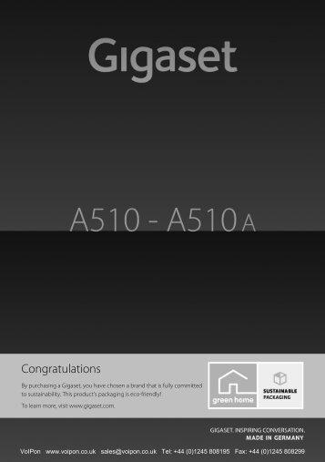 Gigaset A510 Manual - Birchills.net