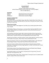 Download Kathleen McNutt's abridged CV. - Johnson-Shoyama ...