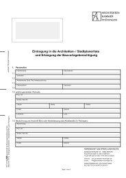 Eintragung in die Architekten - Zentraler Thüringer Formularservice