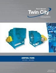 BAE - SWSI & DWDI Airfoil Fans - Twin City Fan & Blower