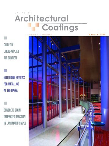 Journal of Architectural Coatings - PaintSquare