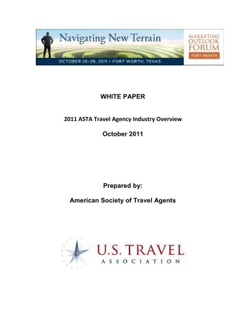 2008 ASTA Travel Agent Usage and Price Sensitivity Study