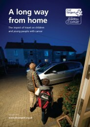 A Long Way from Home -the Impact of Travel on ... - CLIC Sargent