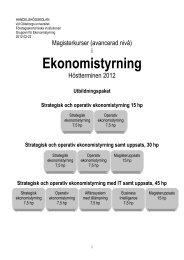 Strategisk ekonomistyrning, 5 poäng - Göteborgs universitet