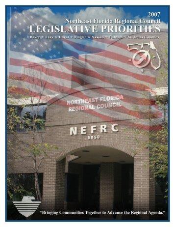 2007 Legislative Priorities - Northeast Florida Regional Planning ...