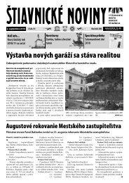 Štiavnické noviny 31 - Banská Štiavnica