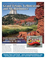 Grand Tetons, Yellowstone and Mt. Rushmore - Conway Tours in ...