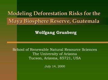 Modeling Deforestation Risks for the Maya Biosphere Reserve ...