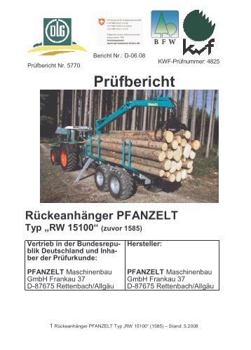 pfanzelt rw 15100