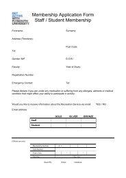 Membership Application Form Staff / Student Membership