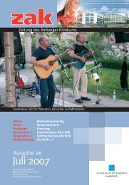 Ausgabe Juli 2007 - Klinikum St. Marien Amberg