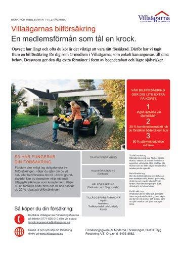 Villaägarnas bilförsäkring En medlemsförmån som tål en krock.
