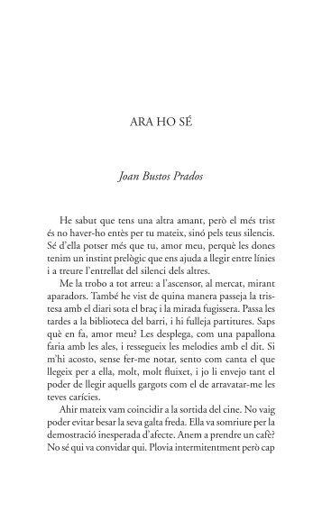 ARA HO SÉ Joan Bustos Prados - Tinet