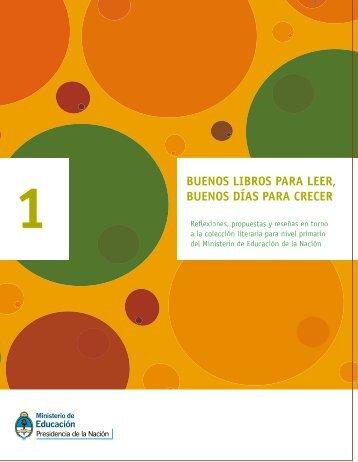 Buenos libros para leer 1 - Ministerio de Educación