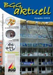 BGG-aktuell, Ausgabe 4 - 2010 - Baugesellschaft Gotha