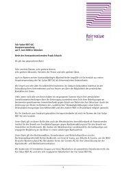 Rede von Frank Schaich, Vorstand - Fair Value REIT-AG