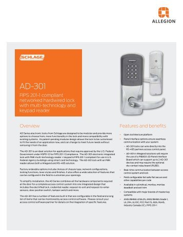 AD-301 Data Sheet - Security Technologies