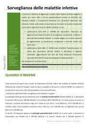 Sorveglianza delle malattie infettive - EpiCentro - Istituto Superiore ...
