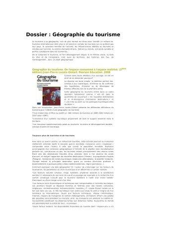 Dossier : Géographie du tourisme - Café pédagogique