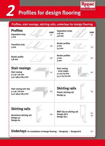 2 Profiles for design flooring - Repac