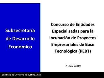 propuesta para incubadora - Buenos Aires Ciudad