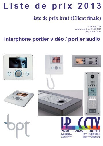 Liste de prix - IP CCTV GmbH
