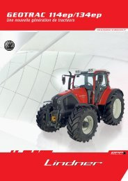 LIN-12-3055 Folder Geotrac 114 und 134ep FR ... - Lindner Traktoren