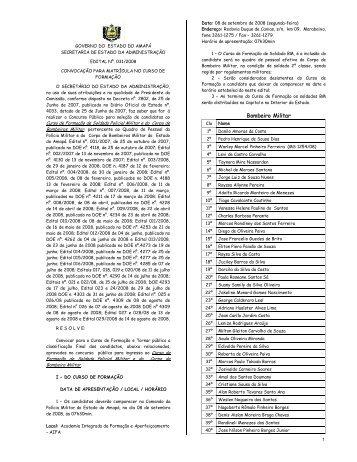 Bombeiro Militar - SEAD - Governo do Estado do Amapá