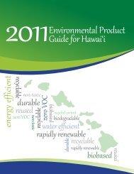 2011 Environmental Product Guide - Sea Grant College Program