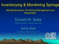 Inventorying & Monitoring Springs - Desert Managers Group