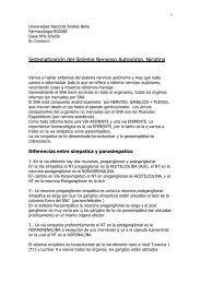Sistematización del Sistema Nervioso Autonómo. Nicotina