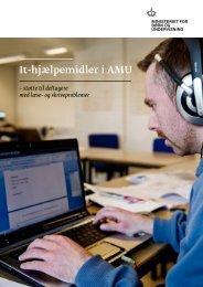 It-hjælpemidler i AMU - Undervisningsministeriet