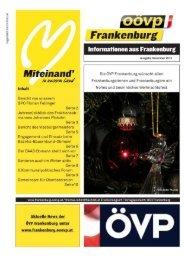 Ausgabe Dezember 2013 - Frankenburg.com