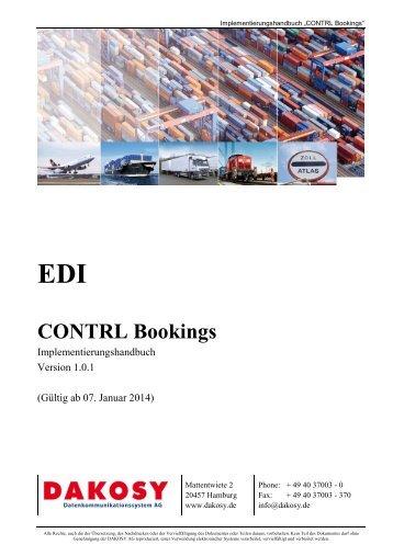 CONTRL Buchungen - DAKOSY Datenkommunikationssystem AG