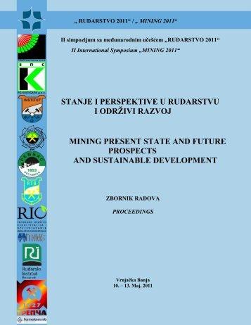 stanje i perspektive u rudarstvu i odrţivi razvoj mining present state ...