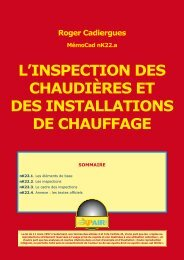 l'inspection des chaudières et des installations de chauffage