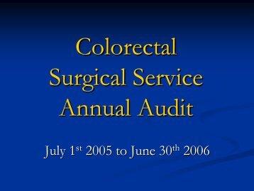 CRS Annual Audit 2006