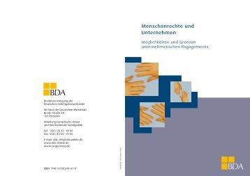 BDA, Menschenrechte und Unternehmen - Bundesvereinigung der ...