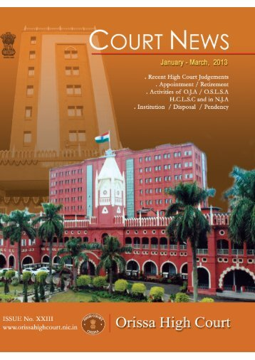 January to March 2013 for PDF.pmd - Orissa High Court