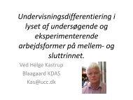 Undervisningsdifferentiering i lyset af undersøgende og ... - mitBUF.dk
