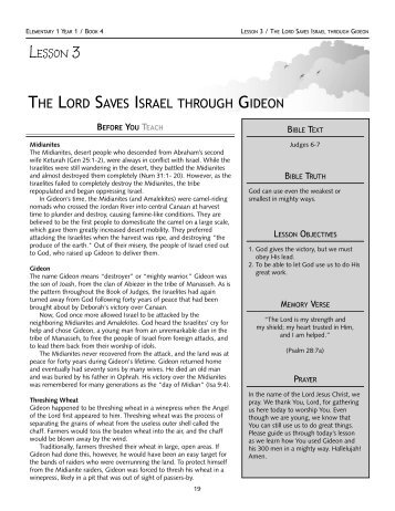 THE LORD SAVES ISRAEL THROUGH GIDEON - True Jesus Church