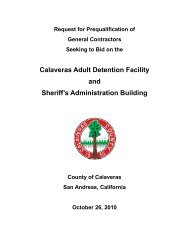Request for Prequalification Packet - October ... - Calaveras County