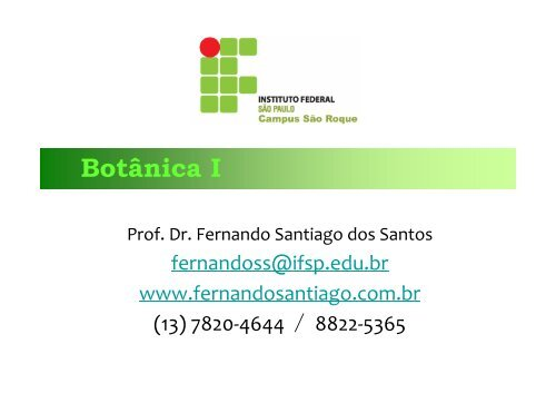 Aula 7 - Fernando Santiago dos Santos