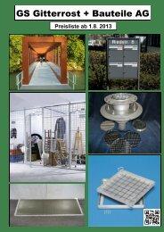 Preisliste 2013 - GS Gitterrost + Bauteile AG