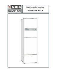 Fighter 100P Návod k instalaci a obsluze - Nibe Technik