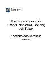 Alkohol- och drogpolitiskt program - Kristianstad